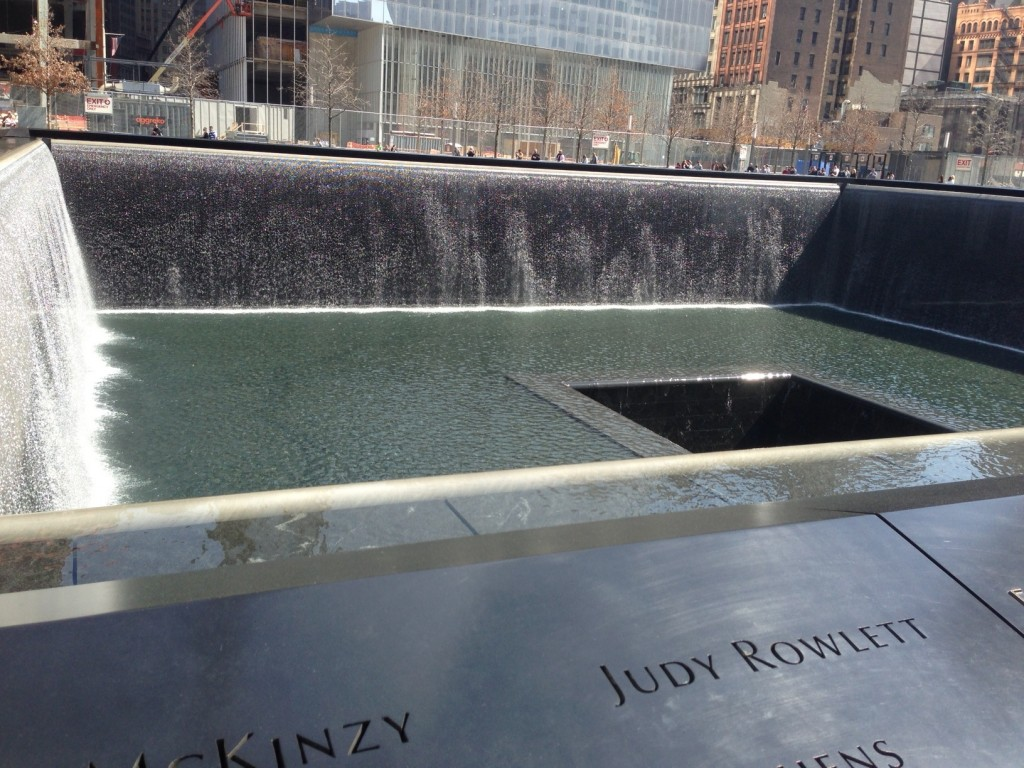 Fountain at the 9/11 memorial