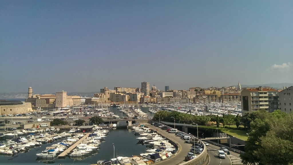 view of Marseille harbor