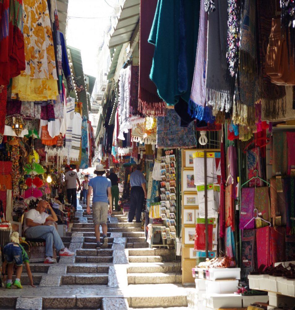 along the Via Dolorosa (photo courtesy of Anne Hellersmith)