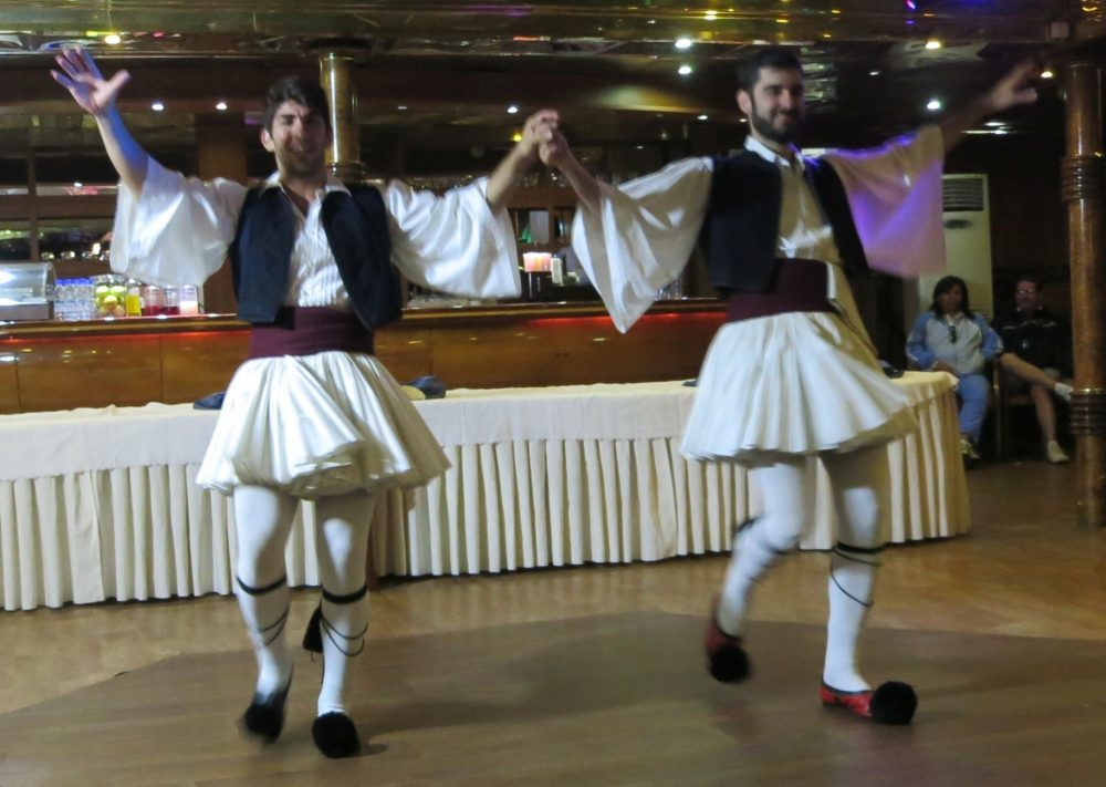 Greek dancers in the floor show