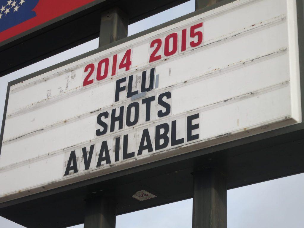 ad for flu shots