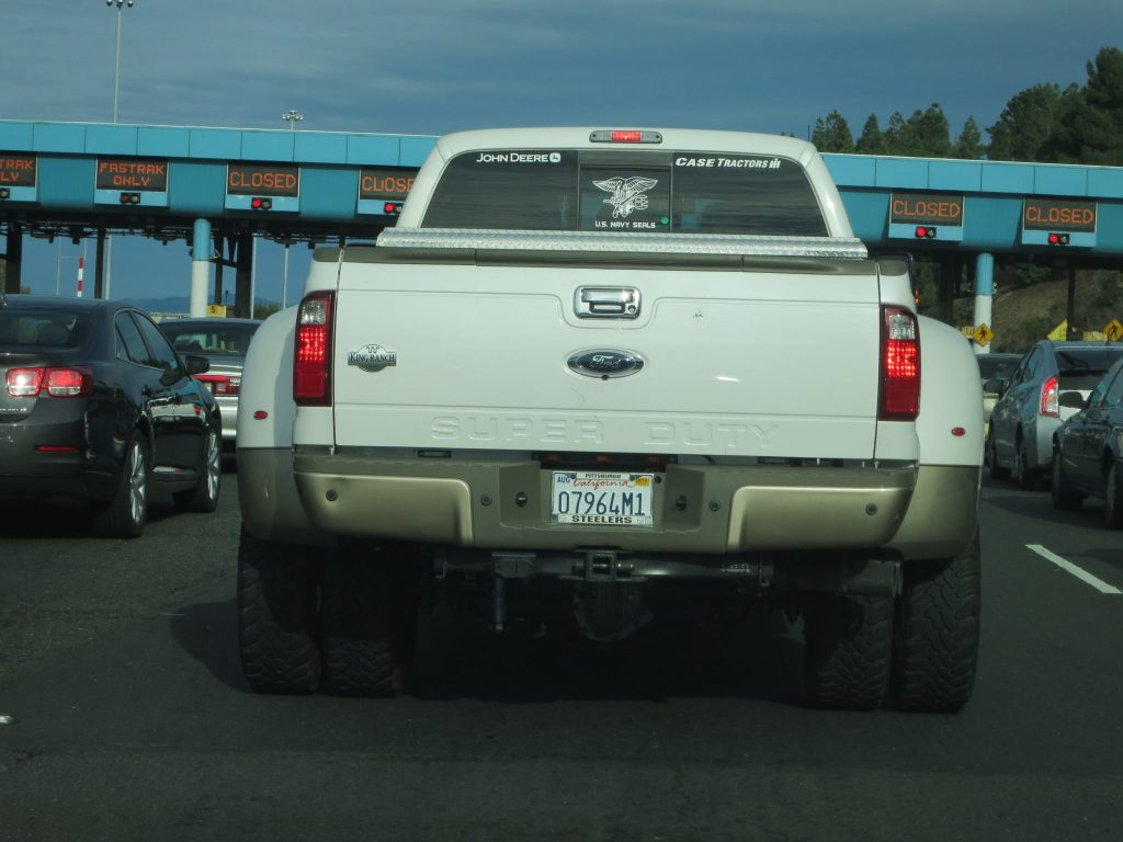 very wide pickup truck