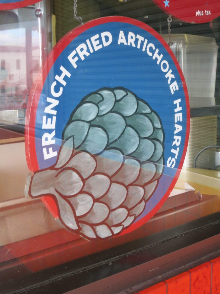ad for French fried artichoke hearts