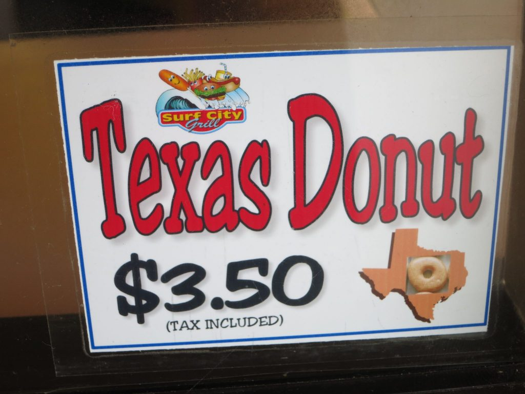 ad for Texas Donut