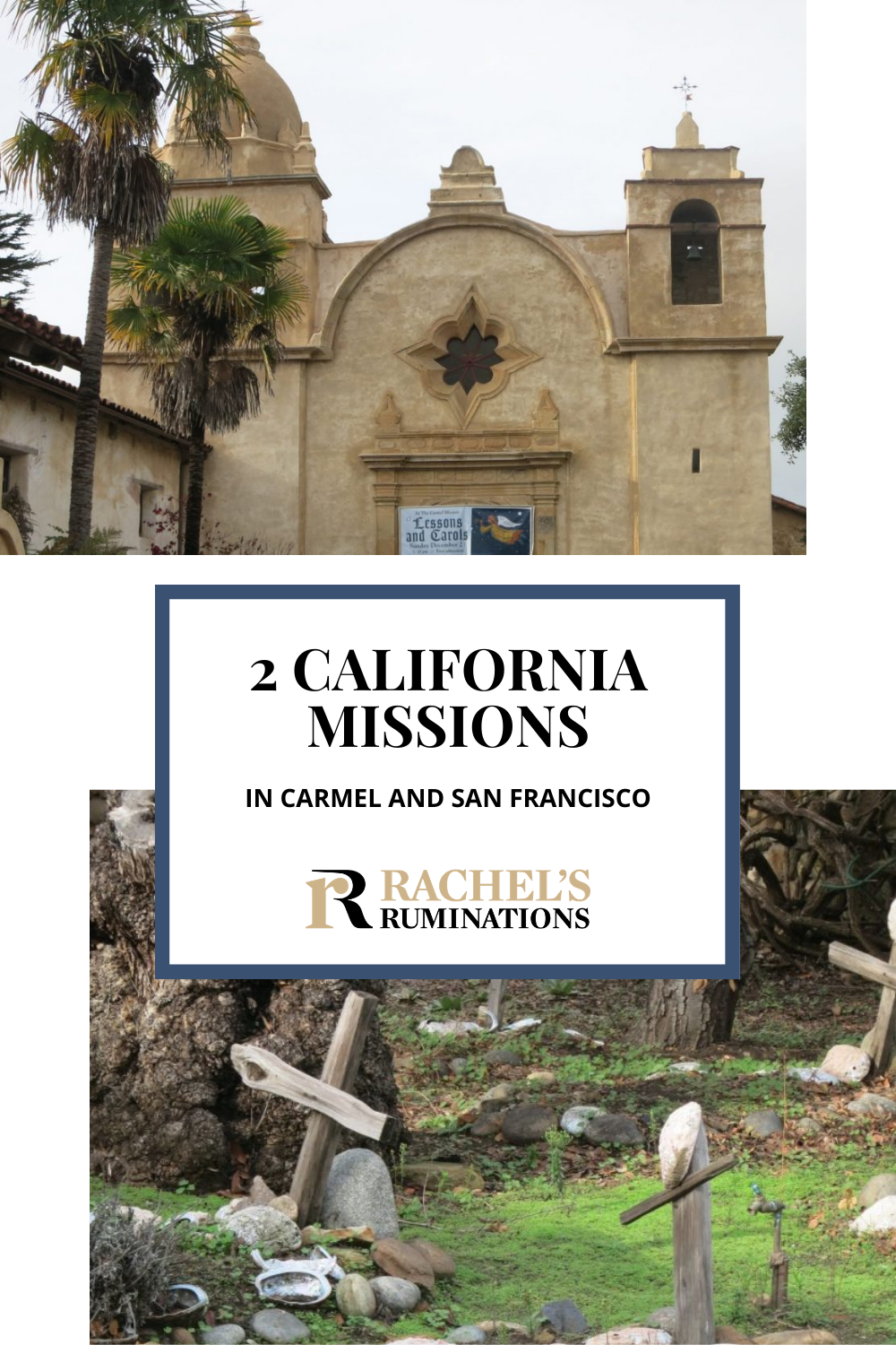 Carmel Mission and Mission Delores are historic churches in the California mission system that lines the coast from San Diego to Sonoma, dating from long before the Gold Rush. via @rachelsruminations