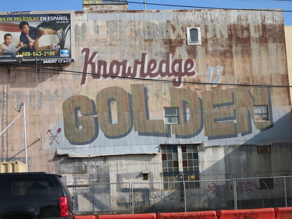"wall art ""Knowledge is Golden"""