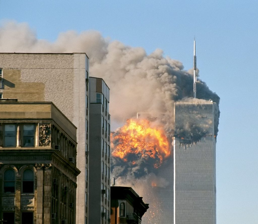 The 9/11 attack on the World Trade Center