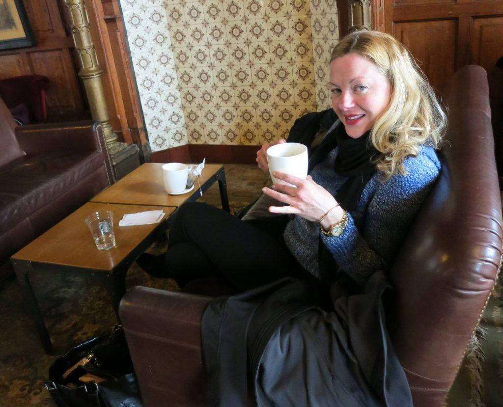 Candi in the Starbucks