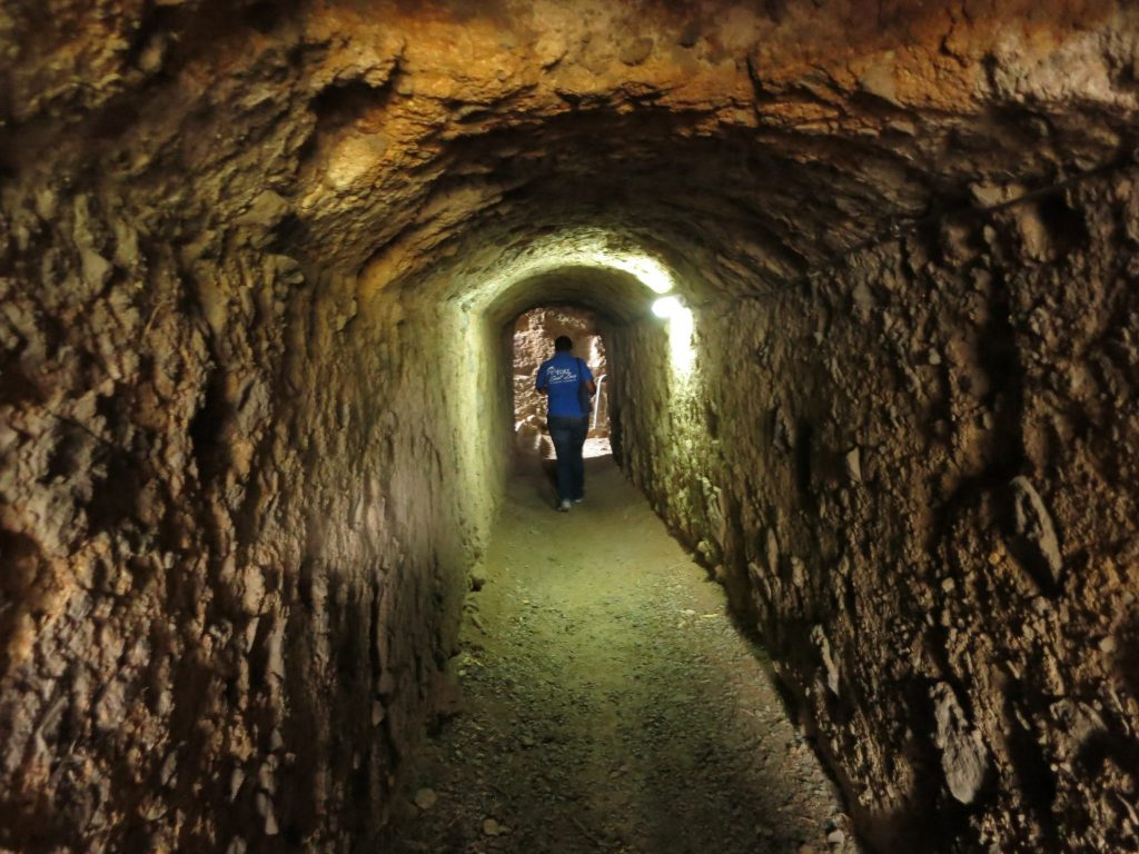 a view inside a tunnel in Fort St. Louis