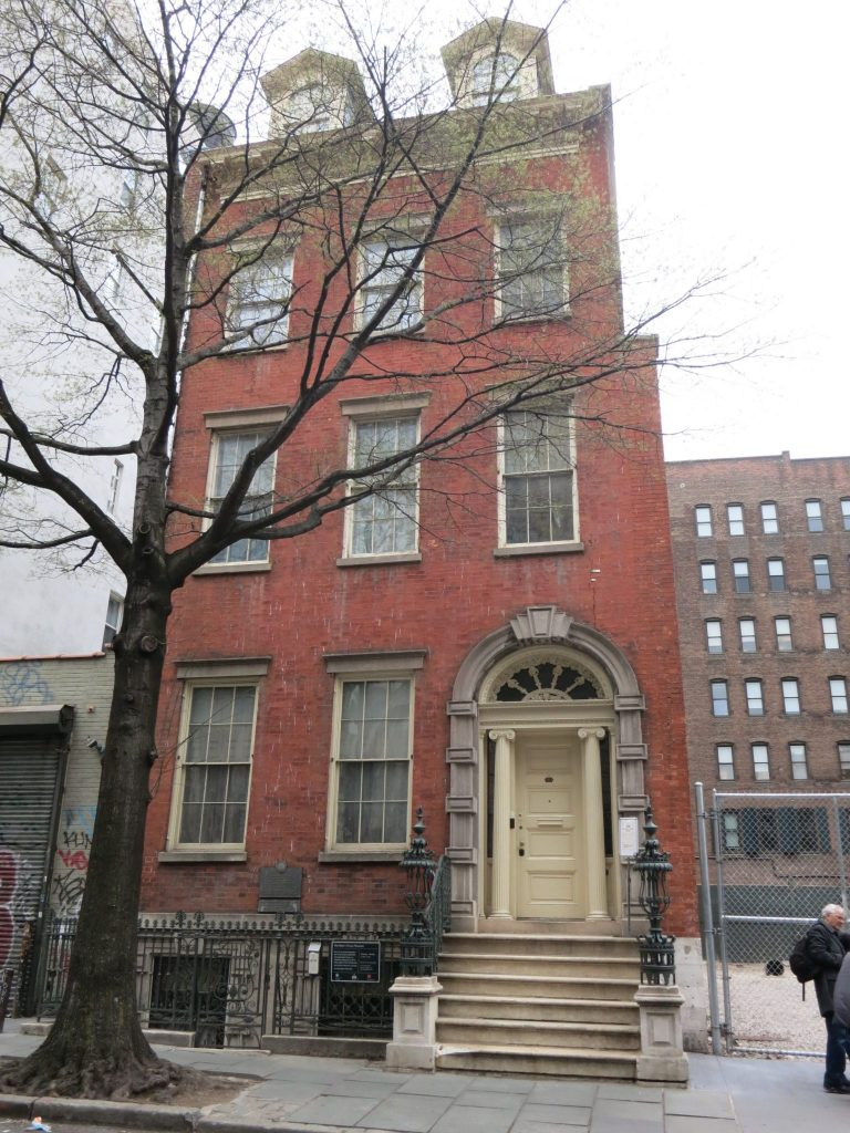 a photo of the exterior of Merchant's House Museum: a brownstone