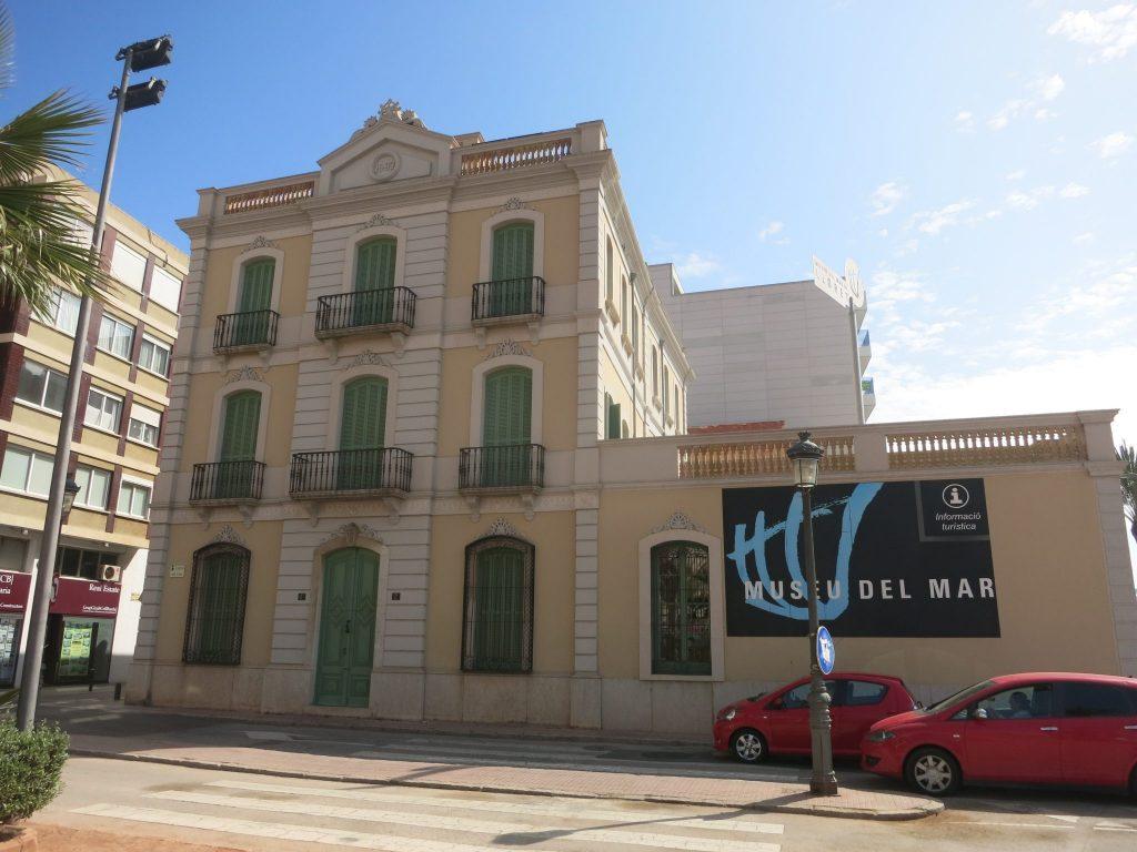 the front facade of the Maritime Museum in Lloret de Mar