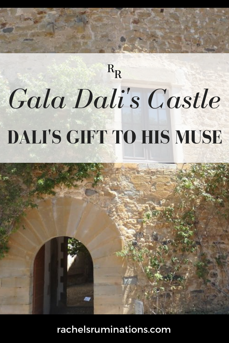 Gala Dali Castle is supposed to be about Gala Dali, but it's really about her relationship with Salvador Dali! Pinnable image.