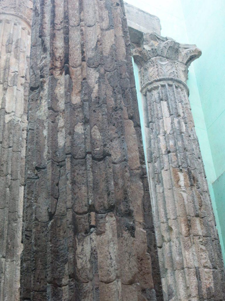 Roman columns in Barcelona