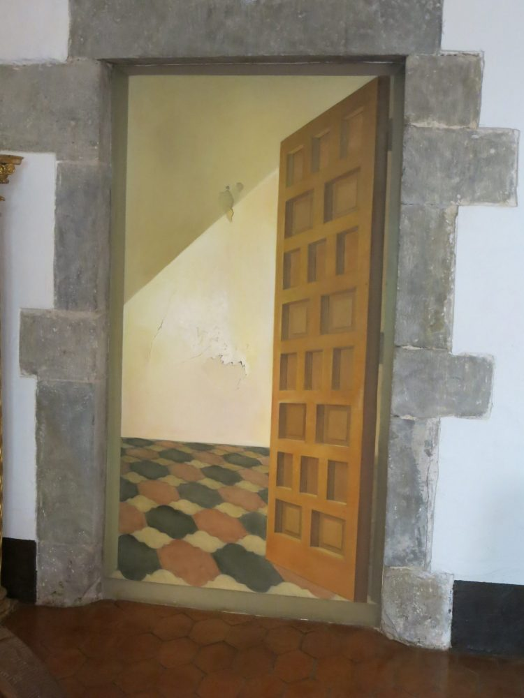 Painted on a door, this trompe l'oeil door was painted by Dali for Gala Dali.