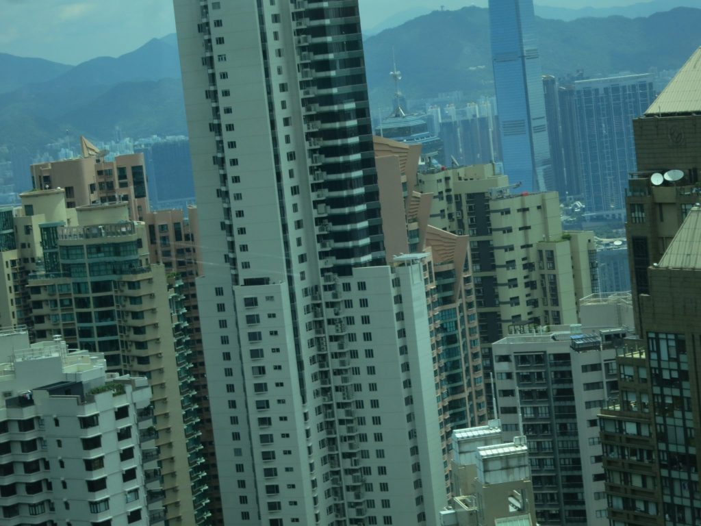 very densely-packed buildings in Hong Kong