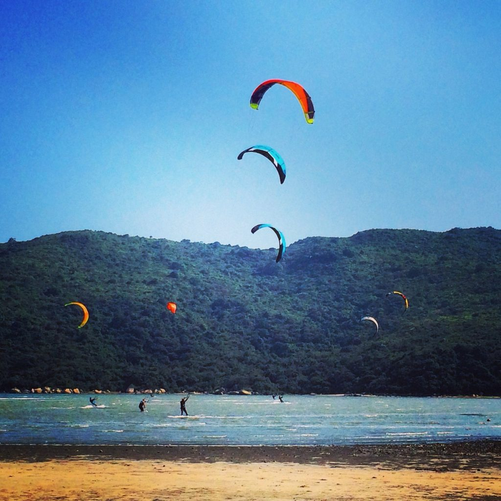 kiteboarding in Hong Kong, not Marina del Rey!