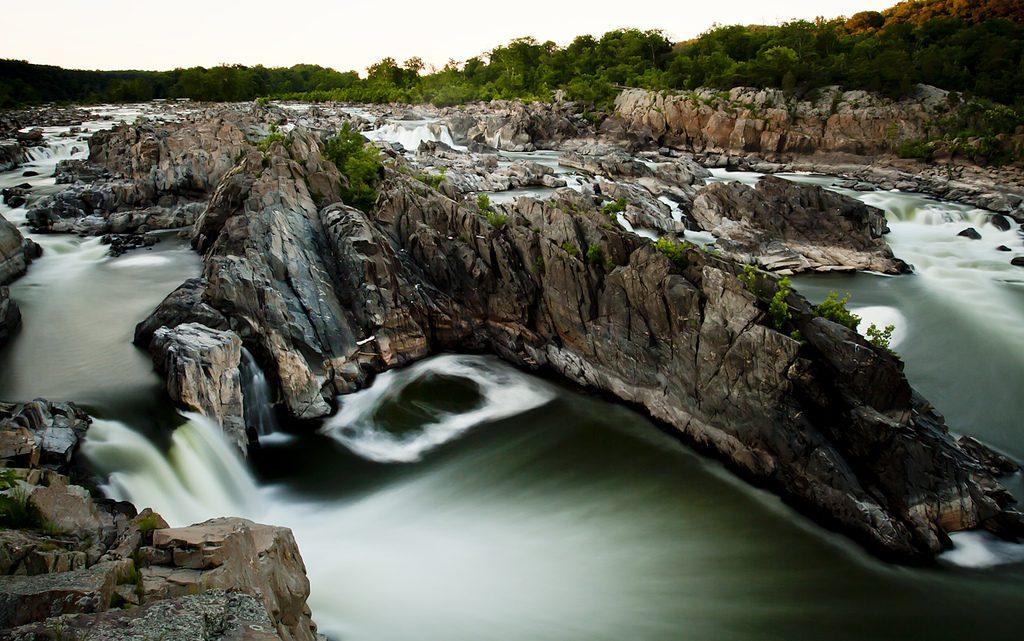 waterfall at Great Falls National Park