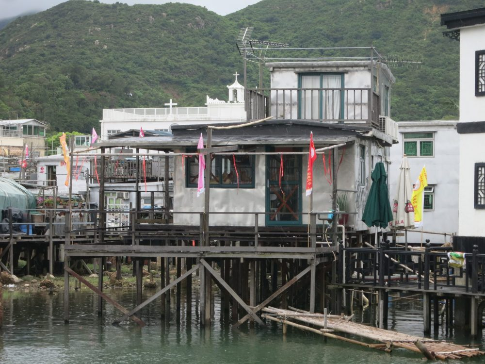 a stilt house in Tai O village