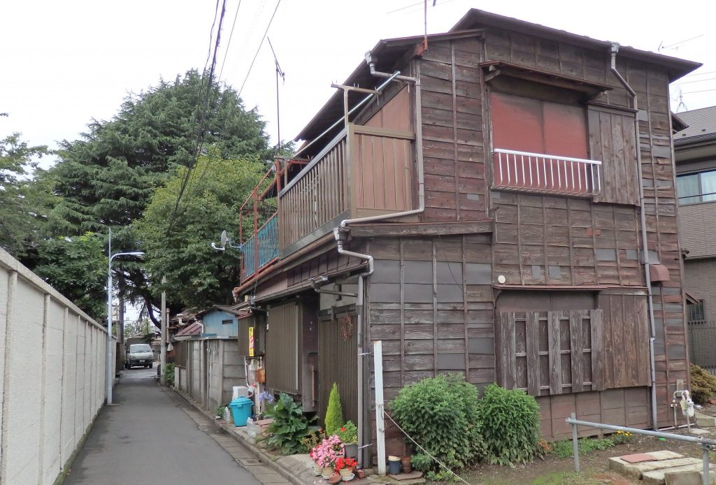 a wooden house in the Yanaka neighborhood, Tokyo