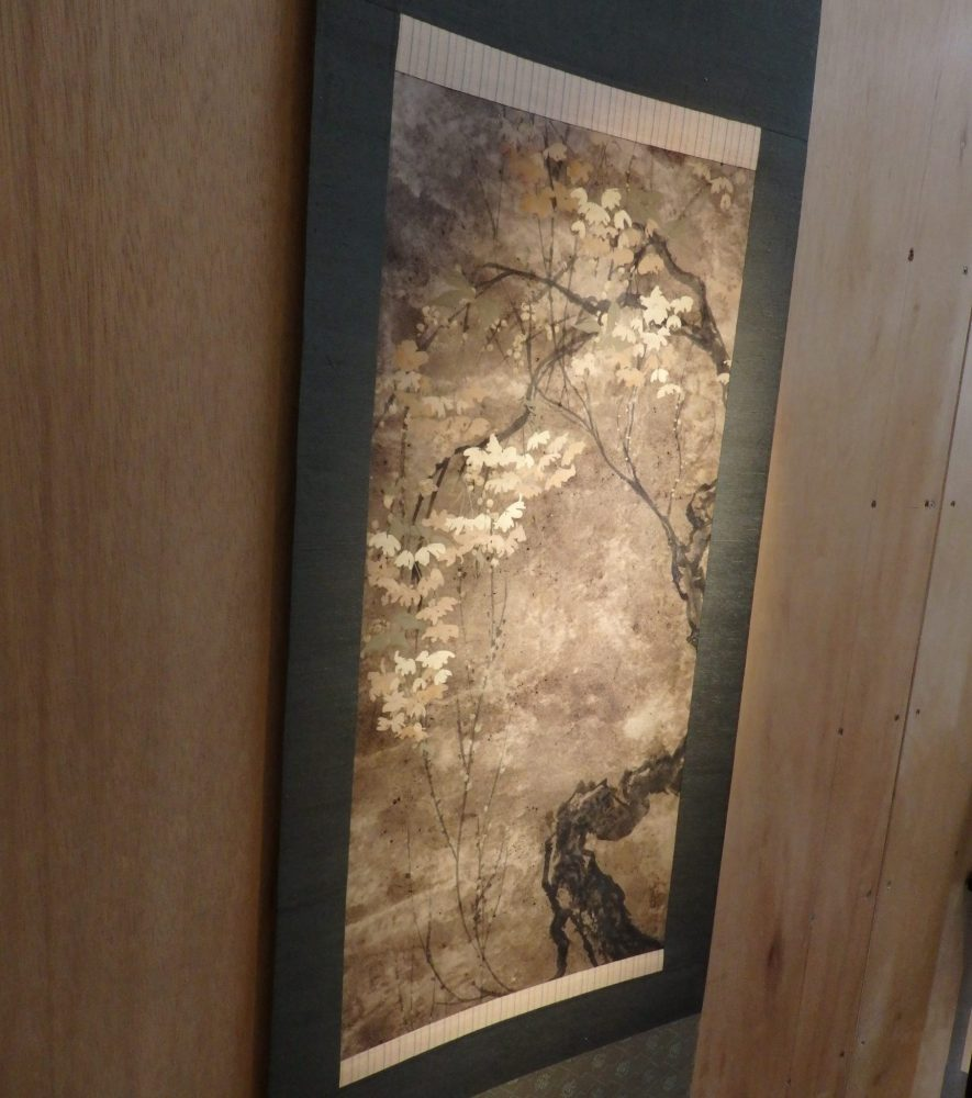 an artwork by Allen West in his studio in Yanaka, Tokyo