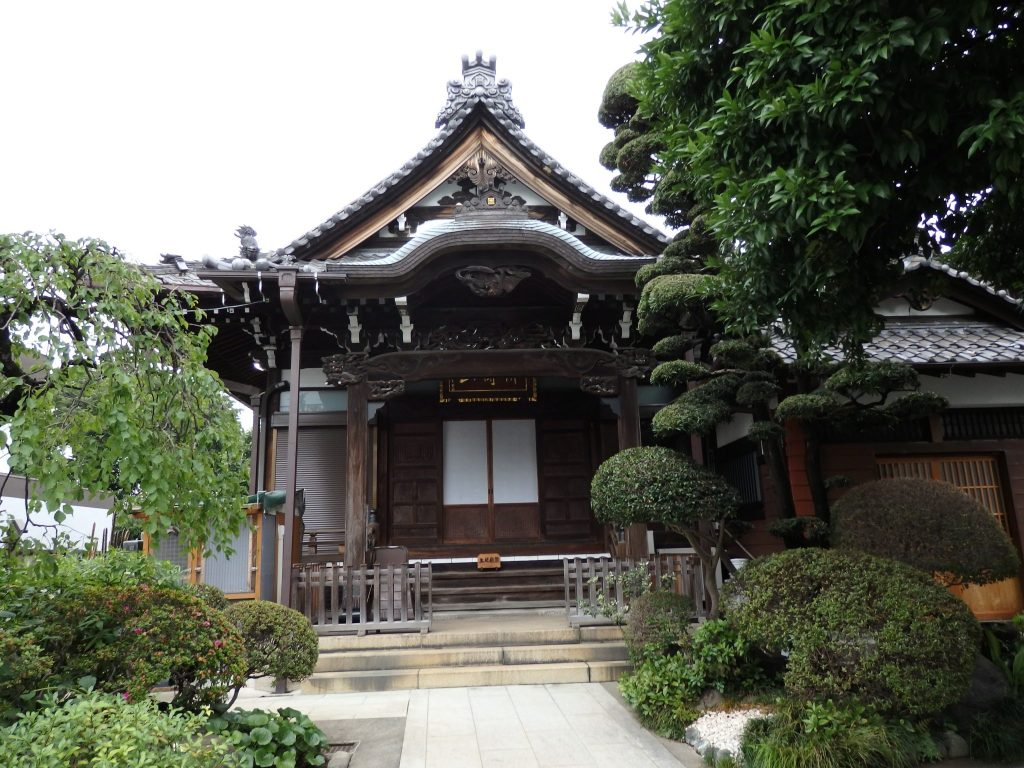 another Yanaka temple, with a garden in front