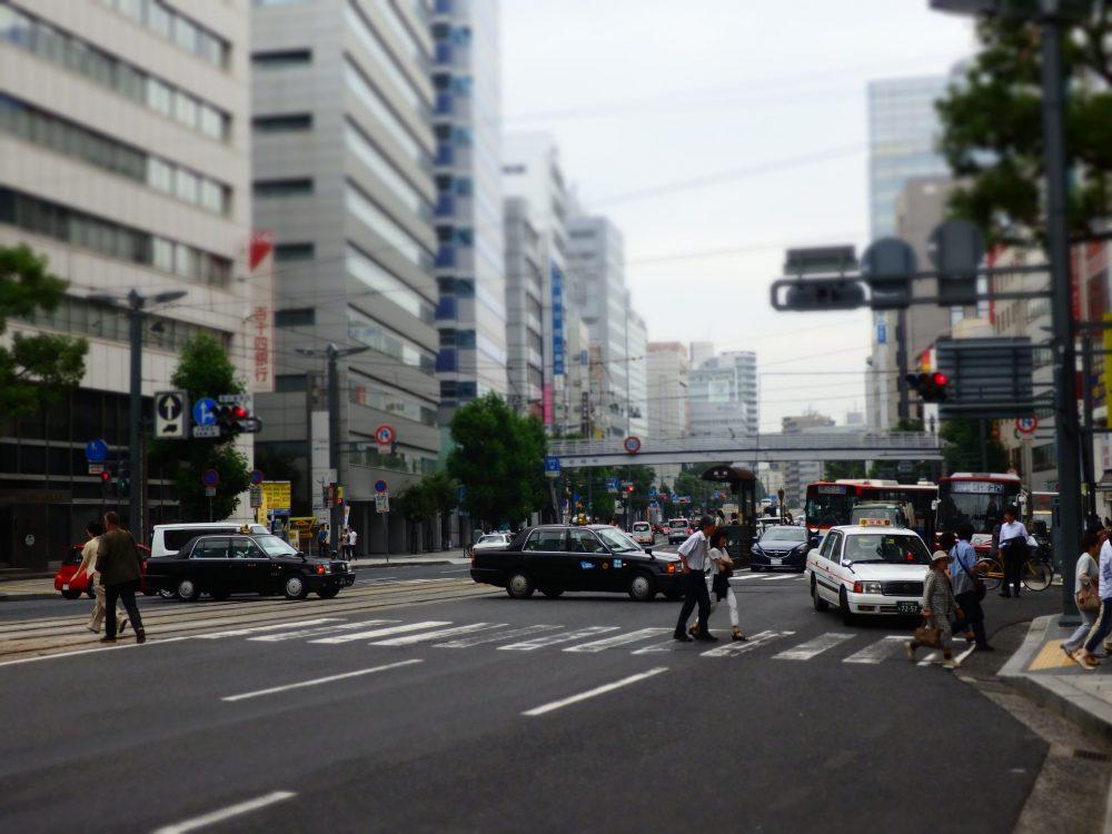 a street scene in Hiroshima
