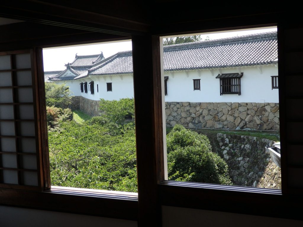 View of the West Bailey from Himeji Castle
