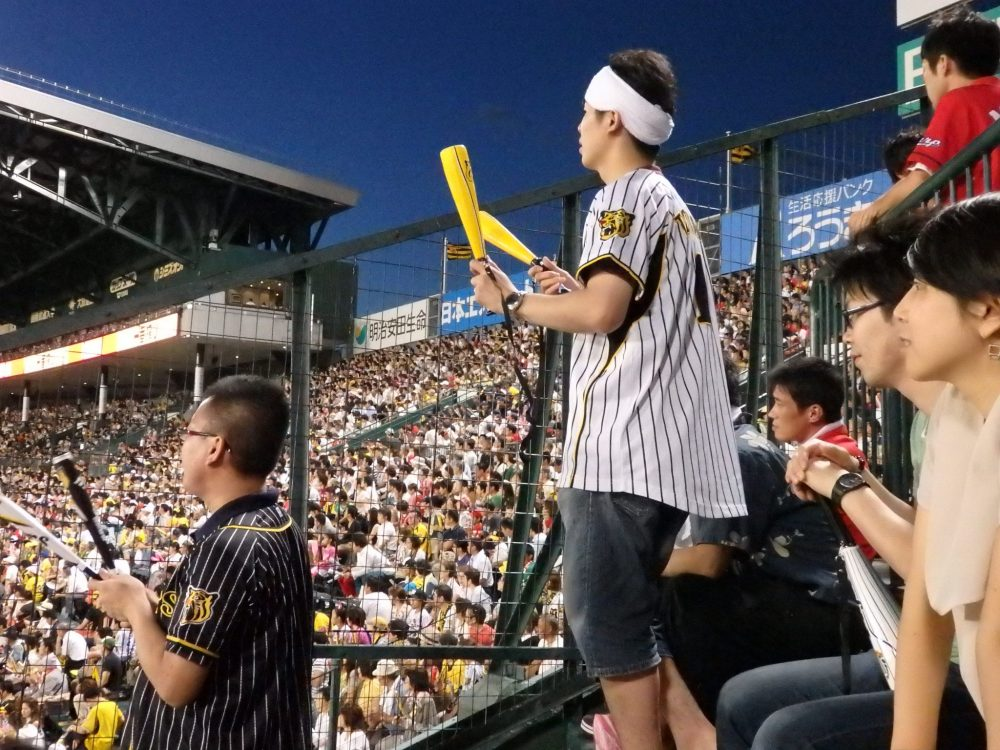 a particularly fanatical supporter of the Hanshin Tigers baseball team
