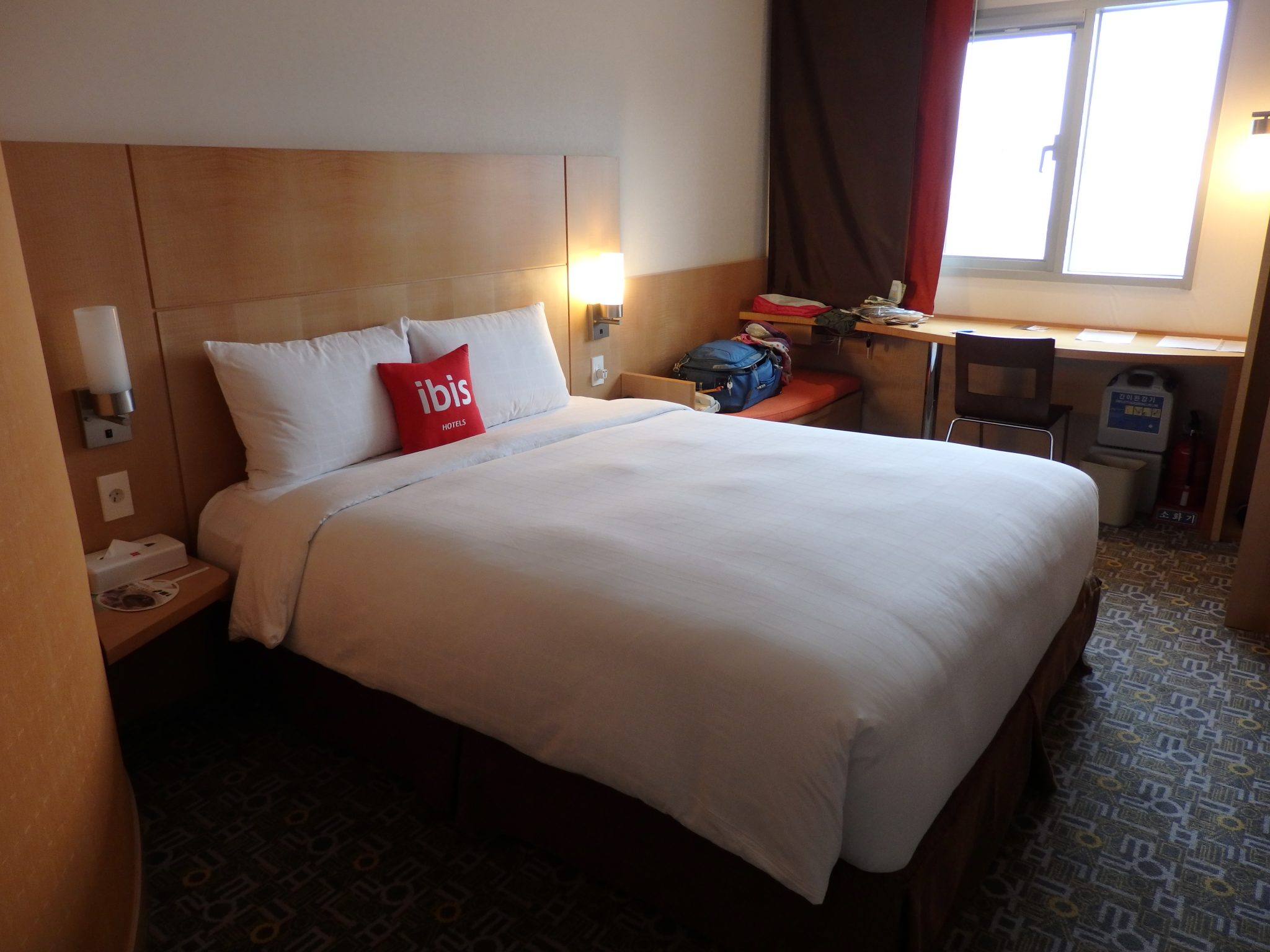room at the Ibis Hotel