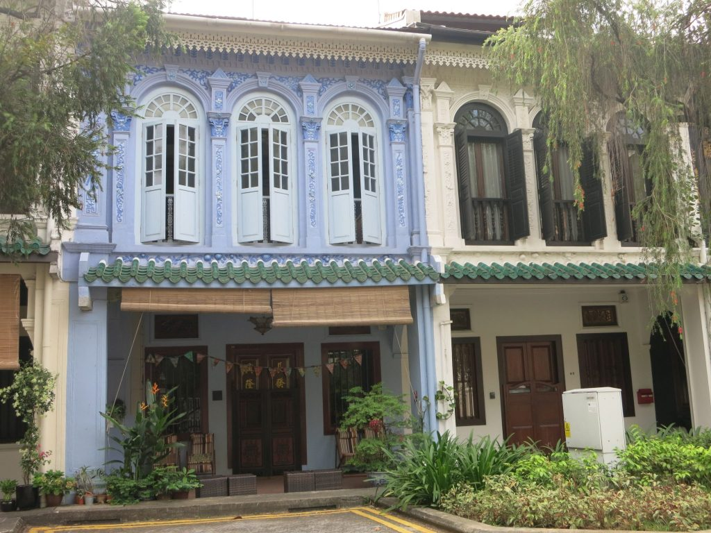 Row houses in the Emerald Hill neighborhood of Singapore