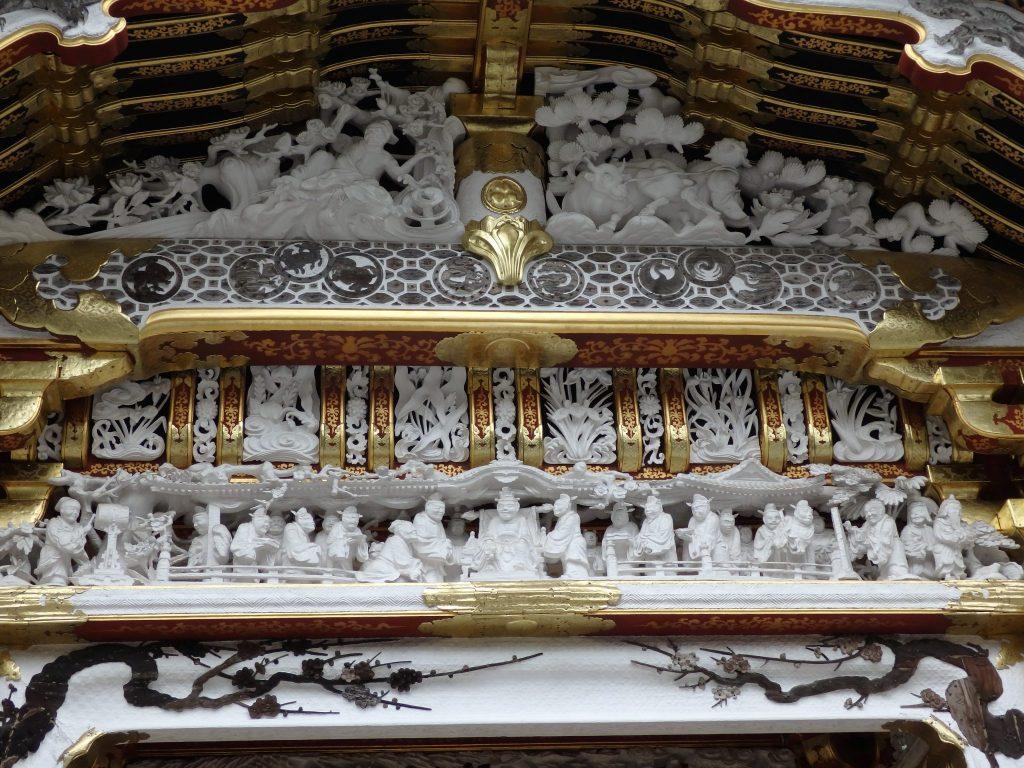 detail of Yomeimon Gate in Tosho-gu Shrine, Nikko, Japan: what to see in Nikko