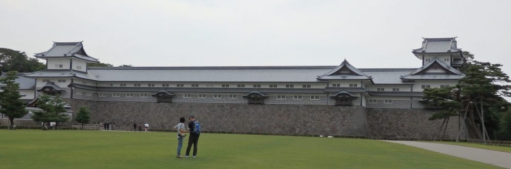 Kanazawa Castle isn't actually a castle; it's a reconstruction of a very large out-building.
