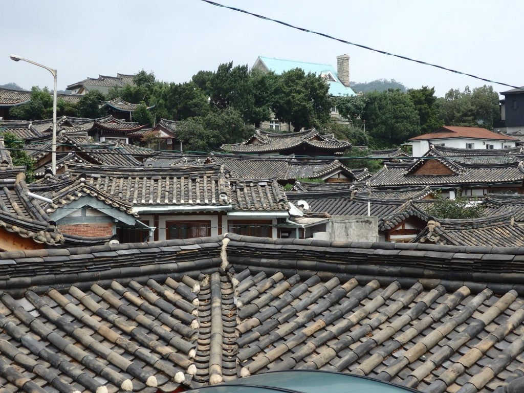 view over part of Buckchon Hanok Village