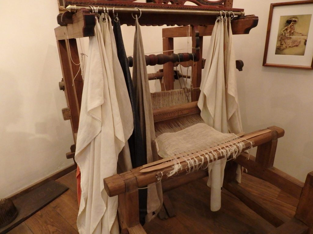the loom in the hemp section of the Hash, Marijuana & Hemp Museum