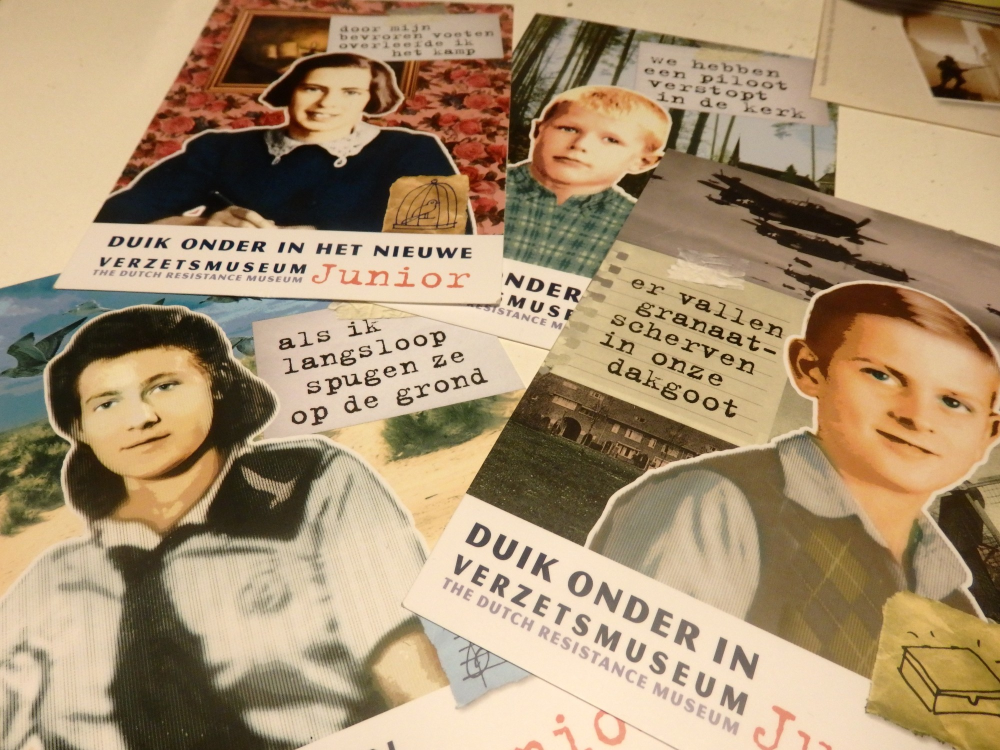 These postcards are free for visitors to the Dutch Resistance Museum