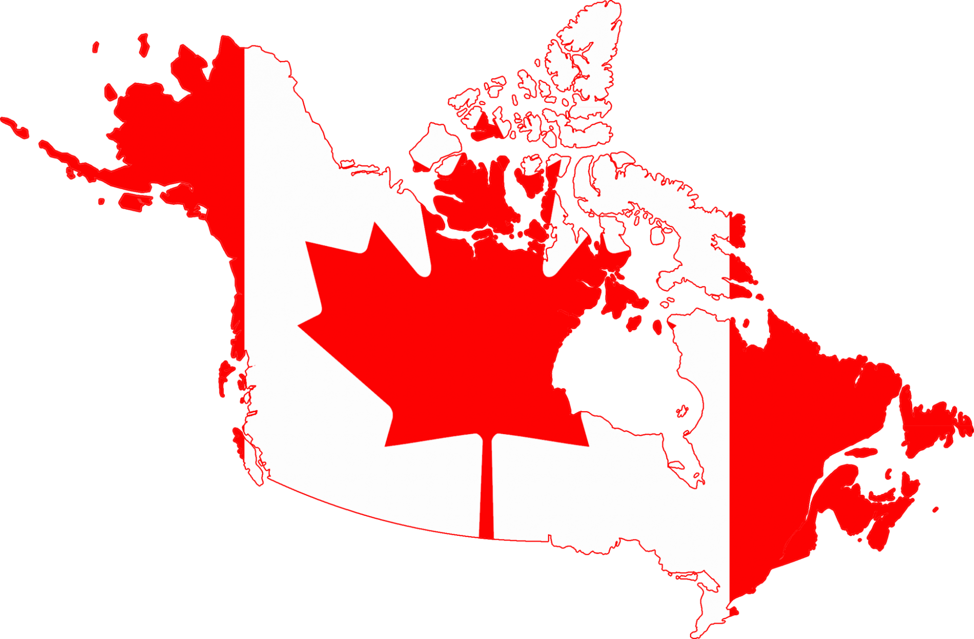 flag map of Canada by DrRandomFactor (Own work) [CC BY-SA 3.0 (http://creativecommons.org/licenses/by-sa/3.0)], via Wikimedia Commons