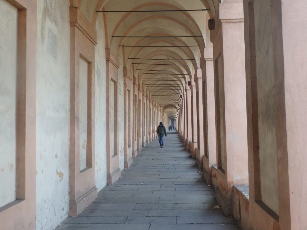 Another shot of the walk up to San Luca in Bologna