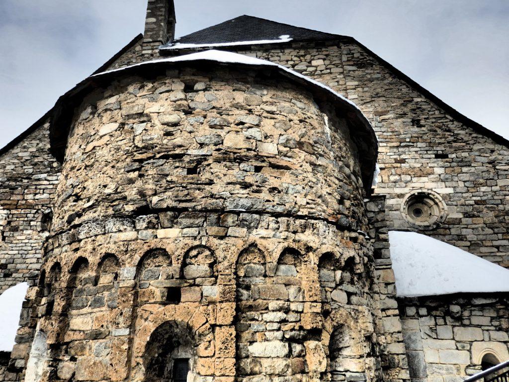 one of the apses on the Santa Maria de Cap d'Aran church in Tredos, Val d'Aran, Spain