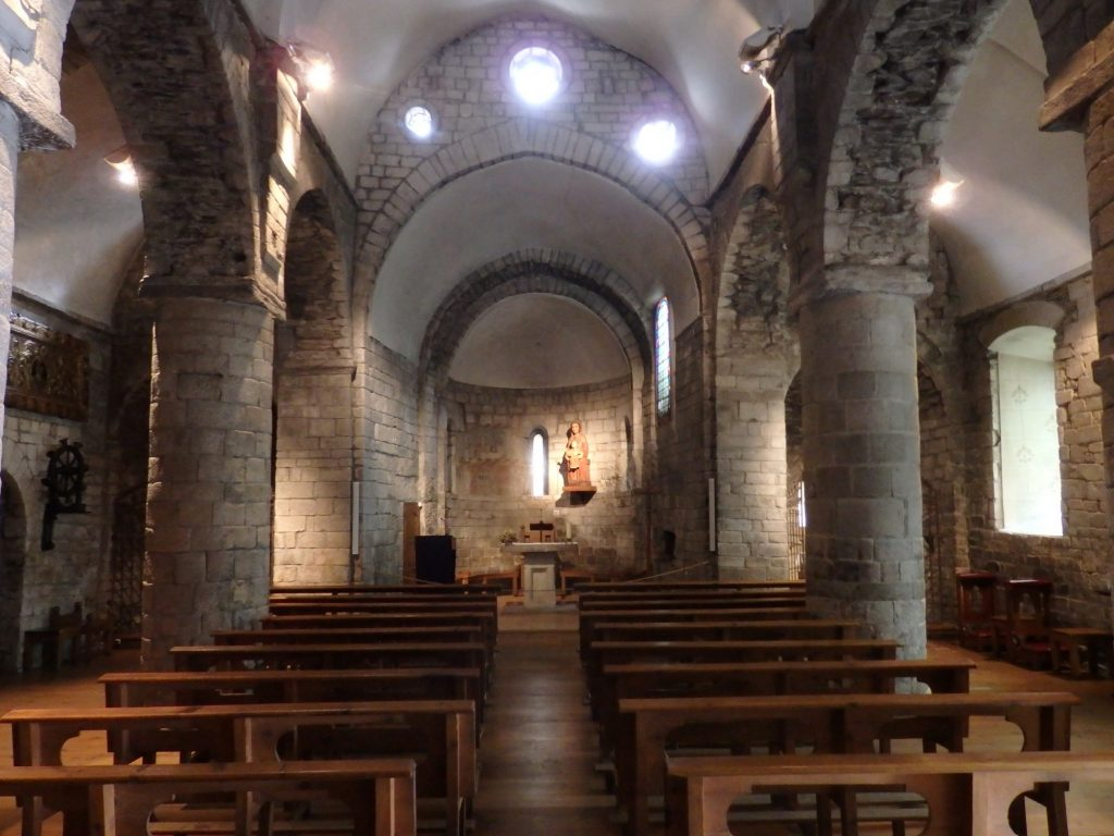 interior view of Santa Maria church in Bossost, Val d'Aran, Spain
