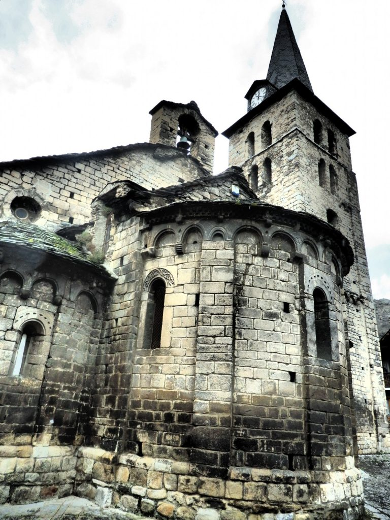 the church of Santa Maria in Bossòst, Val d'Aran, Spain