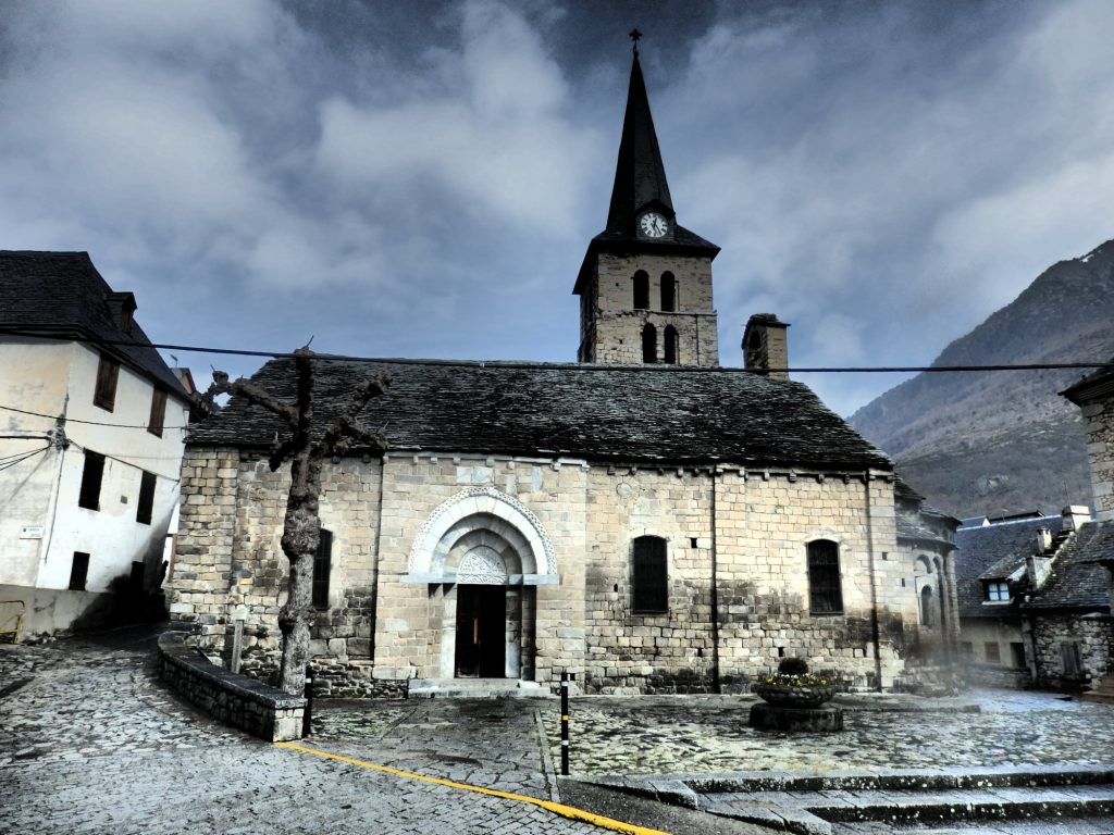 the church of Santa Maria at Bossòst, Val d'Aran, Spain