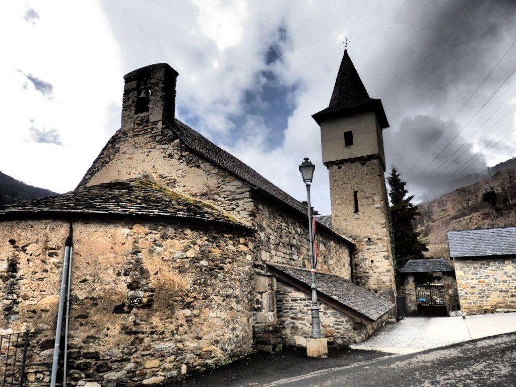 A small church near Vilac, Val d'Aran, Spain