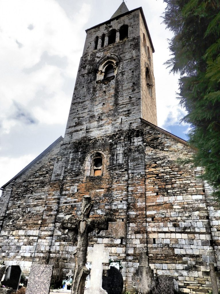The tower of Sant Felix in Vilac, Val d'Aran, Spain