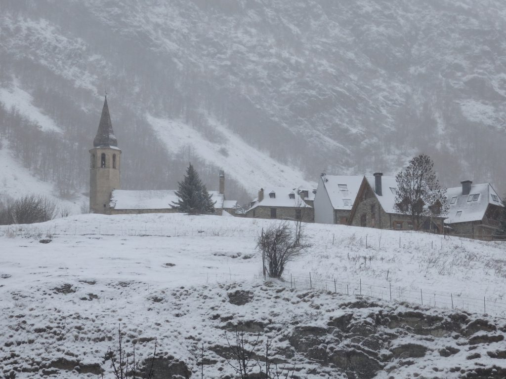 the church in Unha, Val d'Aran, Spain