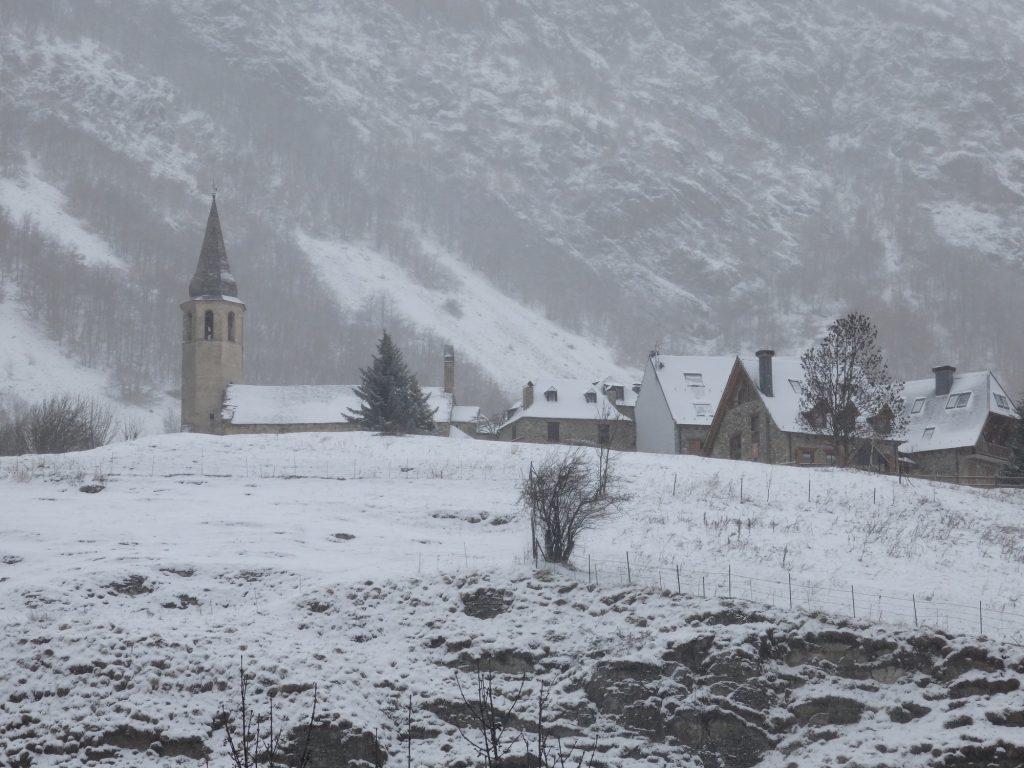 the church in Unha, Val d'Aran, Spain
