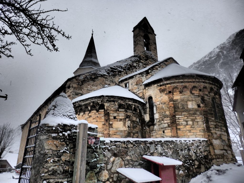 The church of Sant Andreu in Salardu, Val d'Aran, Spain