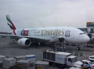 Flying on Emirates Airline's A380