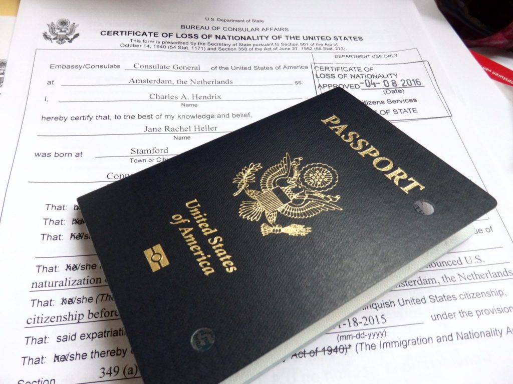 On Receiving my Certificate of Loss of Nationality