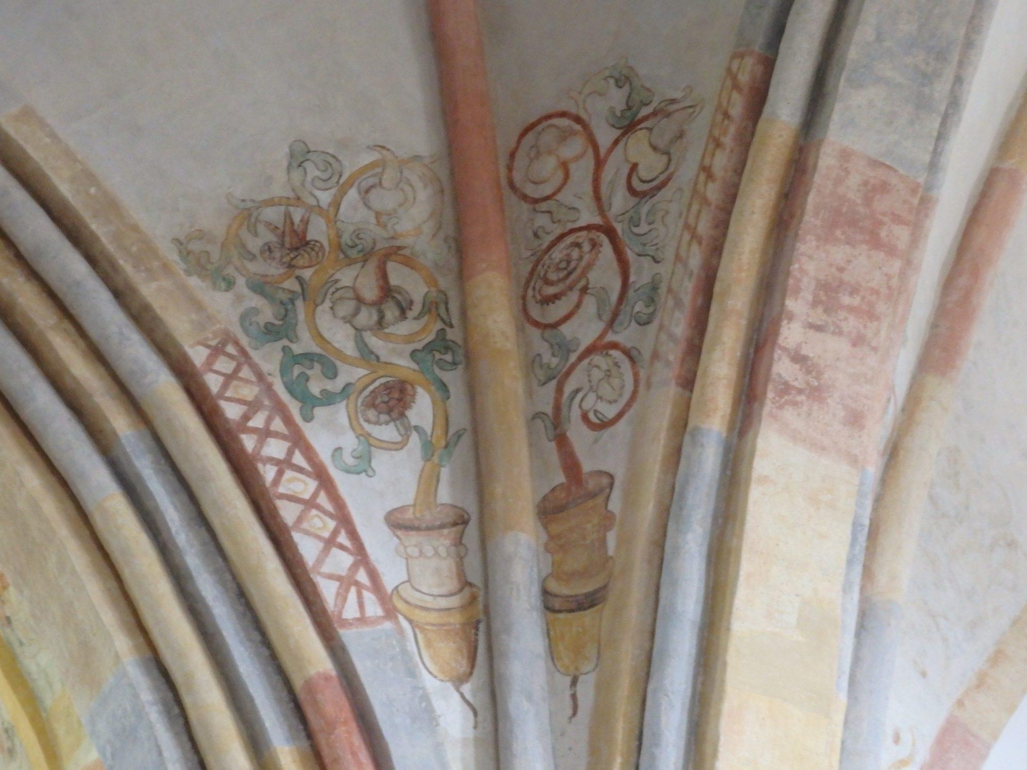 a remnant of a fresco in Garmerwolde church in Groningen province