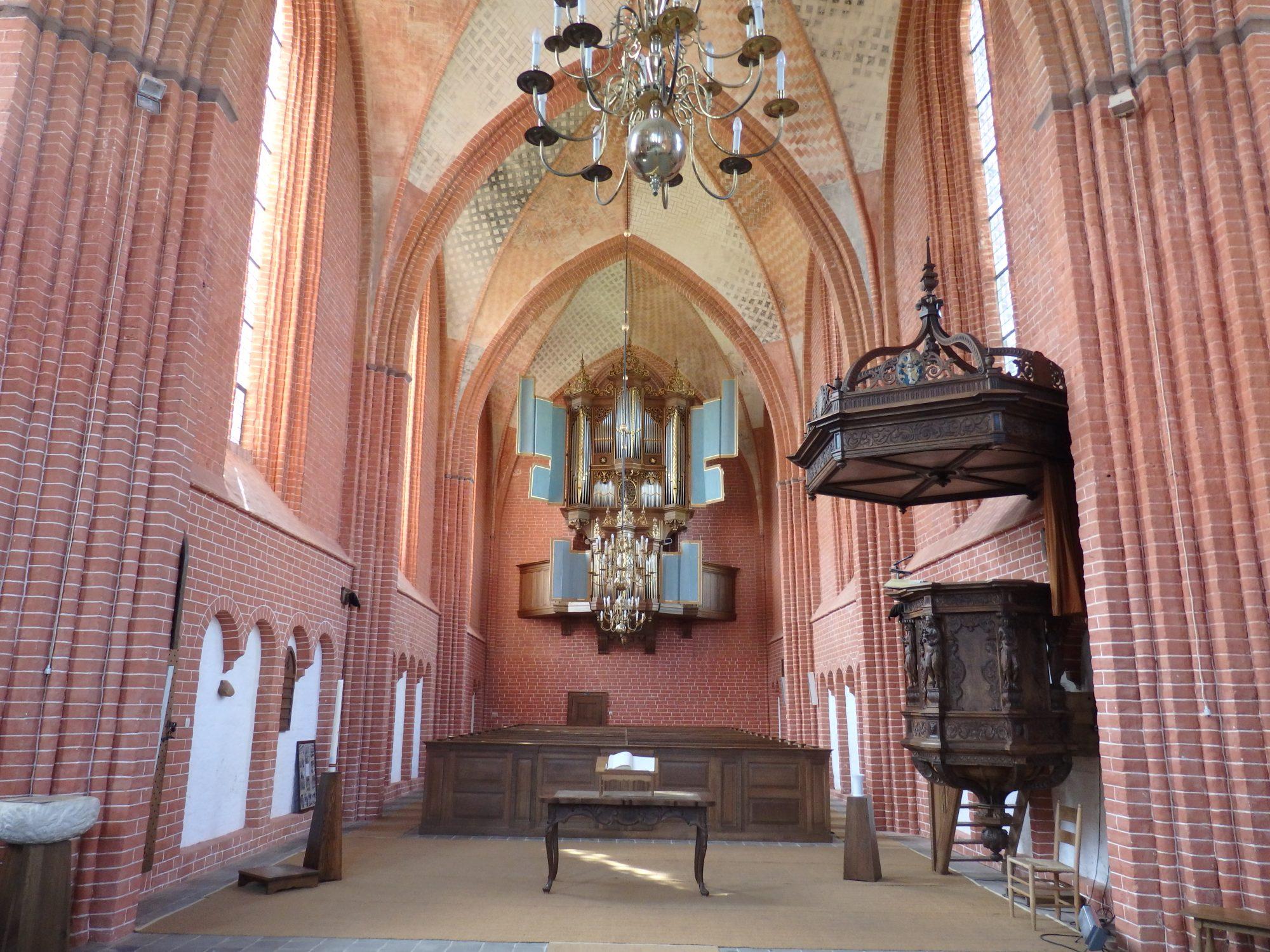 The interior of Zeerijp church in Groningen